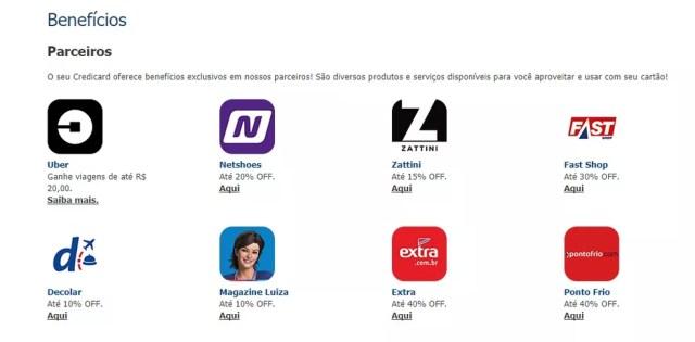 Credicard Zero tem descontos em parceiros (Foto: Reprodução/Bruno Soares)