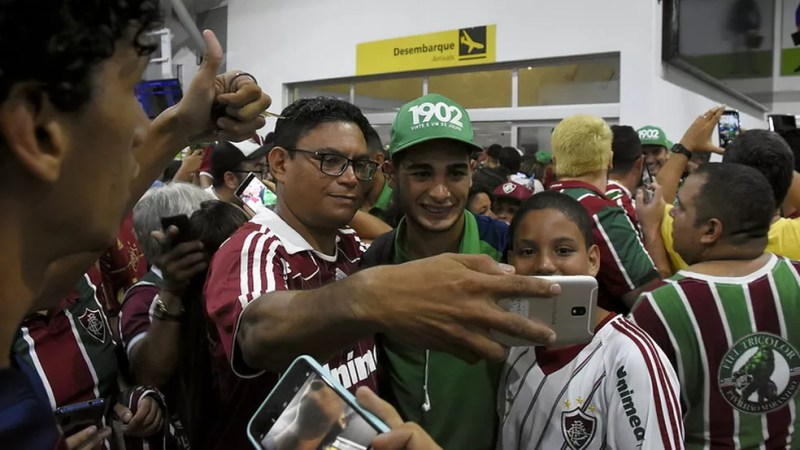 Uruguaio já estava com moral com a torcida antes da pandemia — Foto: Mailson Santana / Fluminense FC