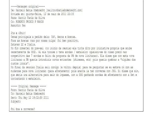 Polícia Federal cita troca de email de Marcelo Odebrecht em indicamento de Palocci (Foto: Reprodução)
