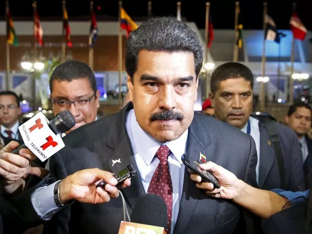 Presidente venezuelano, Nicolas Maduro, durante a abertura da Cúpula das Américas, no Panamá, nesta sexta (10) (Foto: REUTERS/Carlos Garcia Rawlins)