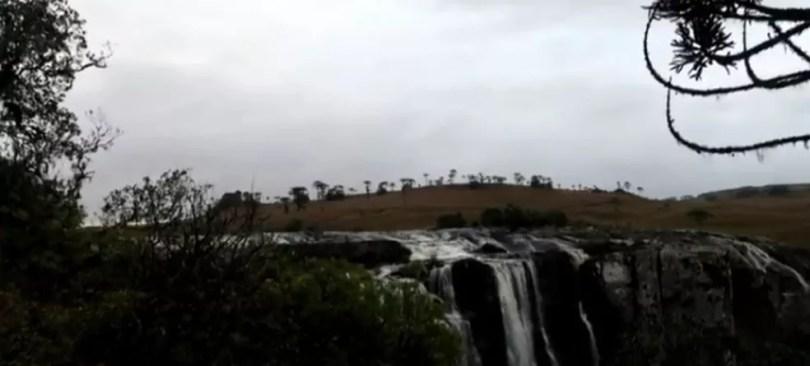 Homem morreu ao cair de cachoeira em Jaquirana — Foto: Reprodução/RBS TV