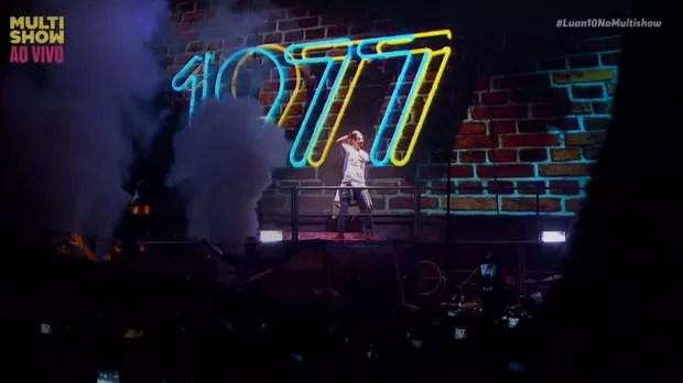 Luan Santana comemorou 10 anos de carreira com show inesquecvel em So Paulo (Foto: Reproduo)