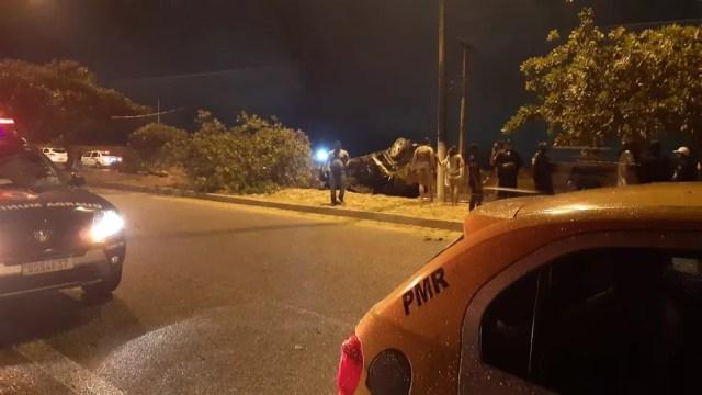 Acidente aconteceu no Prolongamento da Prudente de Morais — Foto: Sérgio Henrique Santos/Inter TV Cabugi