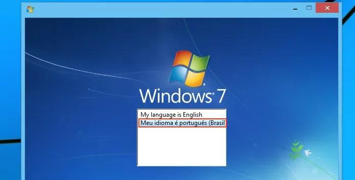 Escolhendo a linguagem do instalador do Windows 7 (Foto: reprodução/Edivaldo Brito)