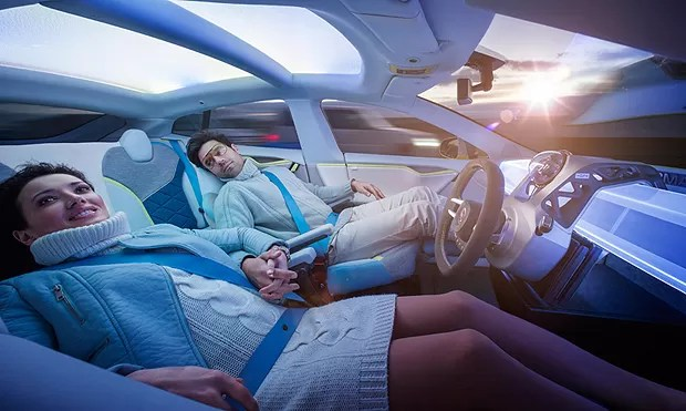 Os passageiros podem relaxar e até dormir enquanto o carro dirige por eles (Foto: Divulgação)