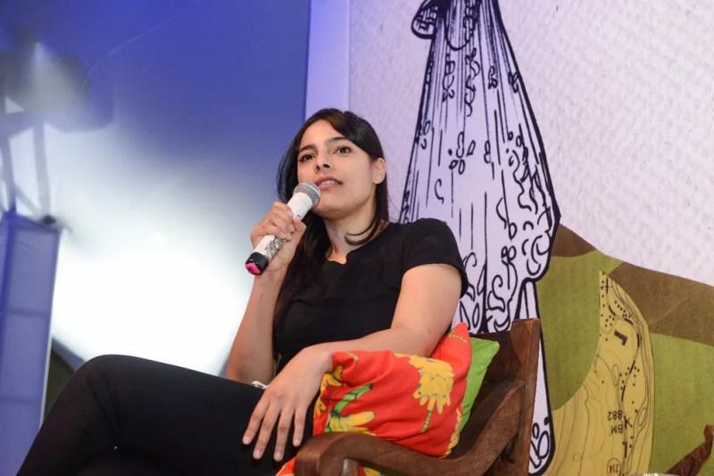 Margarita García Robayo na Flica — Foto: Ricardo Prado