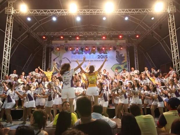 Pré-Carnaval no Aterrinho da Praia de Iracema (Foto: Marcos Moura / Prefeitura de Fortaleza)