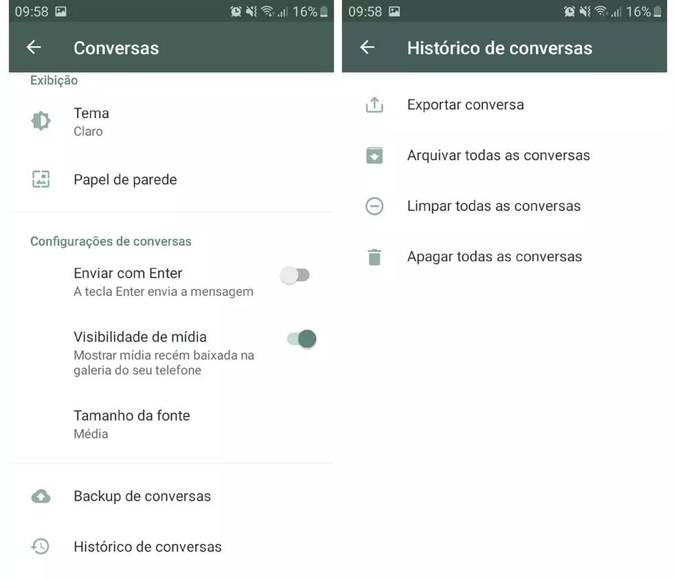 Apague todos os arquivos dos grupos do WhatsApp, sem sair dos chats — Foto: Reprodução/Graziela Silva