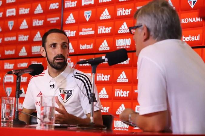 Juanfran é o convidado de Cleber Machado no podcast Hoje Sim  — Foto: Marcos Paulo