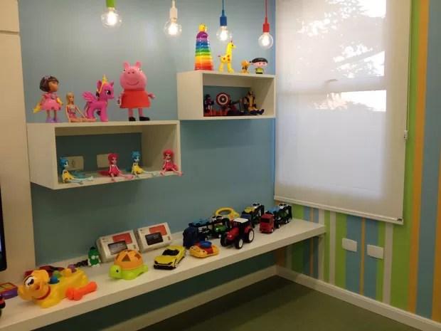 Brinquedoteca auxilia no recuperação da saúde dos pacientes (Foto: Wellington Roberto/G1)