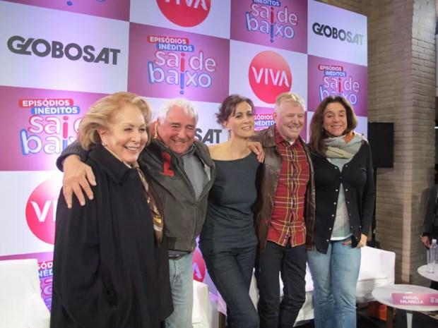 Aracy Balabanian, Luis Gustavo, Marcia Cabrita, Miguel Falabella e Marisa Orth — Foto: Cauê Muraro/G1