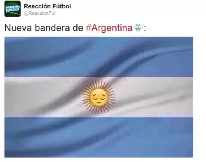 zoações na web Argentina vice Copa América