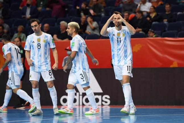 Argentina goleia Estados Unidos por 11 a 0 no Mundial de Futsal — Foto: Twitter / @Argentina