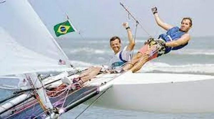Lars Grael e Kiko Pelicano — Foto: Divulgação