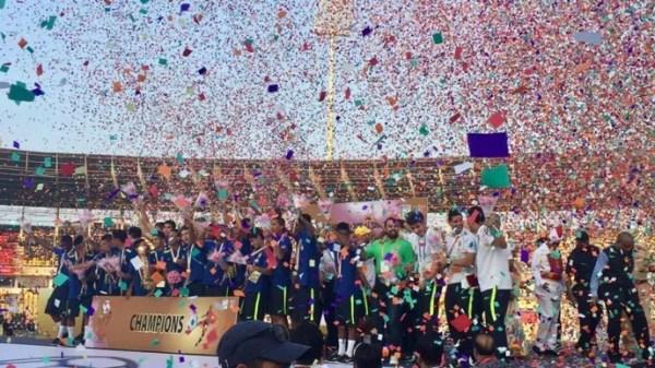 brasil sub-17 campeão da brics cup (Foto: CBF)