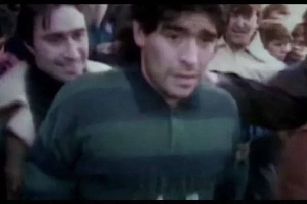 Maradona no documentário dirigido por Asif Kapadia sobre a vida do craque argentino (Foto: Reprodução)