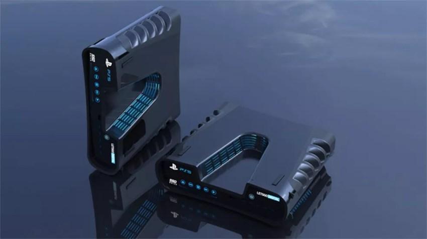 Modelos em 3D simulam a aparência de kits de desenvolvedores vazados do PlayStation 5 — Foto: Reprodução/T3