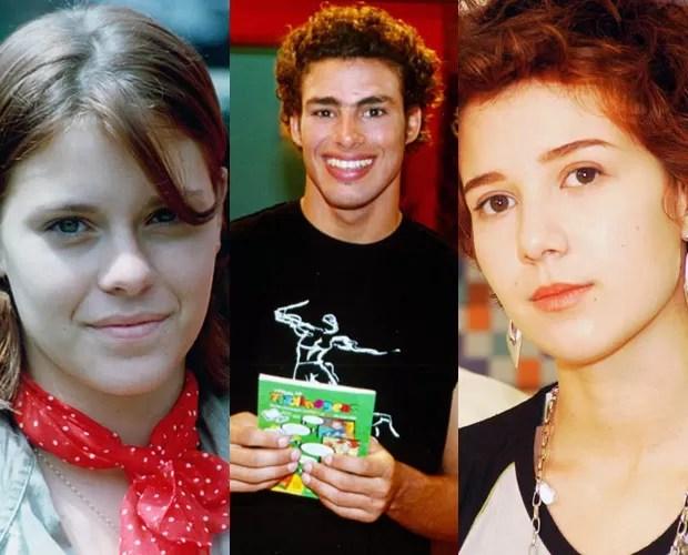Carolina Dieckmann, Cauã Reymond e Marjorie Estiano passaram por Malhação (Foto: Cedoc  / TV Globo)