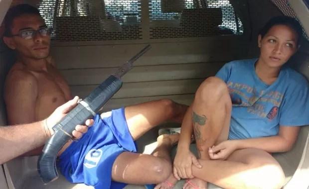 Casal usava arma caseira, diz polícia (Foto: Polícia Civil/Divulgação)