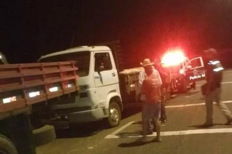 Suspeito fugiu do local ao avistar barreira da polícia em MS (Foto: Polícia Militar/Divulgação)