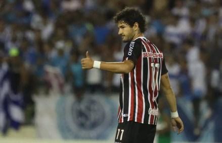 Pato estreou contra o CSA em 2014 (Foto: Rubens Chiri/saopaulofc.net)