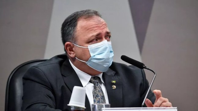 Então ministro Eduardo Pazuello lançou no AM aplicativo para facilitar prescrição de remédios cuja eficácia contra covid foi descartada por estudos científicos — Foto: Agência Senado