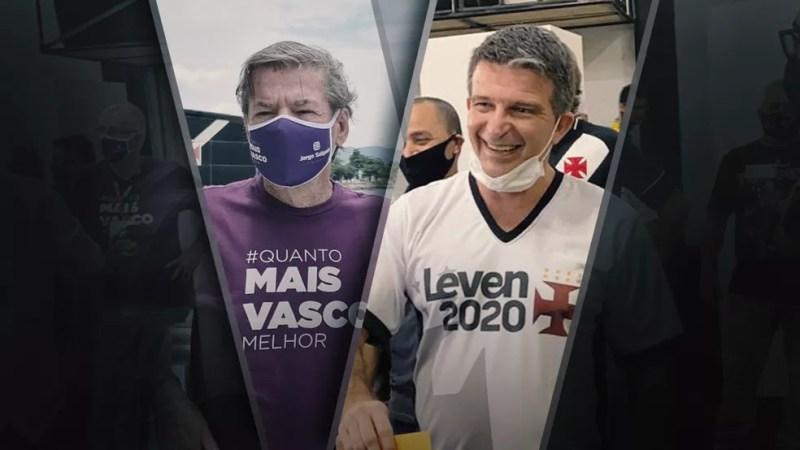 Jorge Salgado e Leven Siano disputam a presidência do Vasco — Foto: ge
