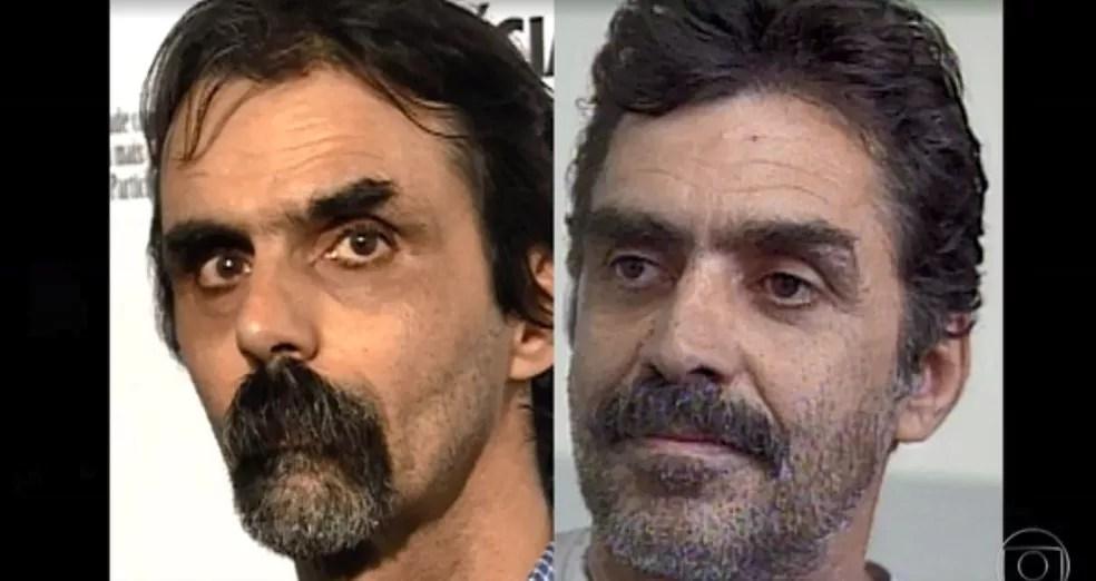 À esquerda, Pedro Meyer, apontado como autor de uma série de estupro; à direita, o artista plástico Eugênio Fiuza de Queiroz — Foto: Reprodução/TV Globo
