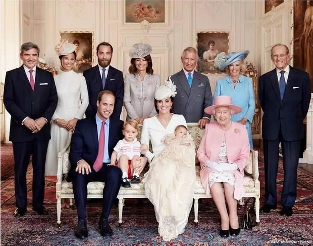 Família Real no batizado da princesa Charlotte Elizabeth (Foto: Reprodução/Mario Testino/Art Partne)