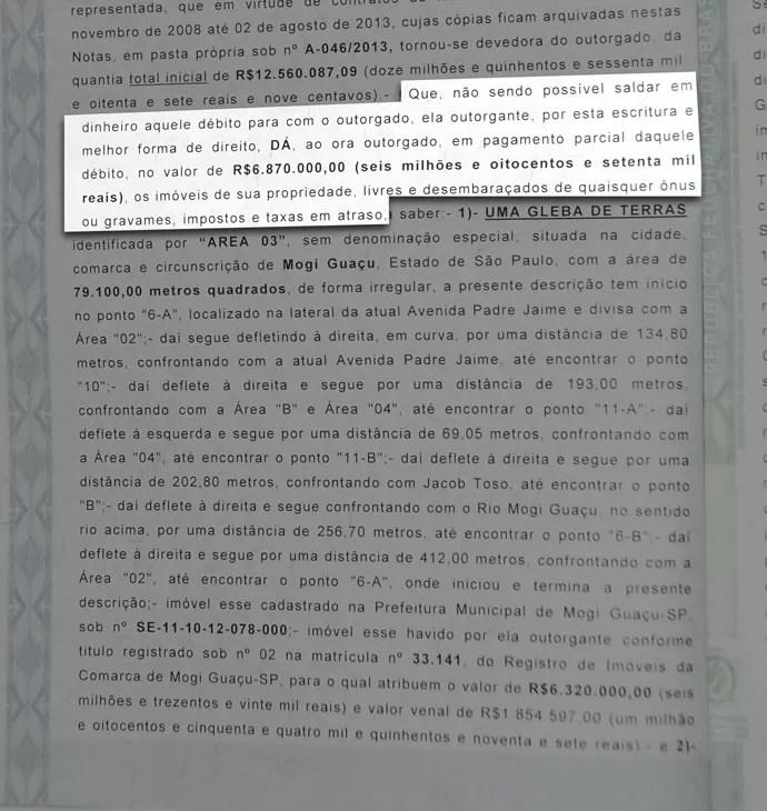 Documento Mogi Mirim Rivaldo (Foto: Editoria de arte)