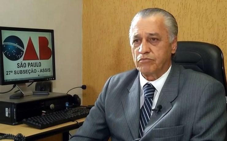 Carlos Pinheiro, presidente da OAB de Assis: decisão se baseou nos princípios da isonomia e da dignidade humana (Foto: Reprodução / TV TEM)