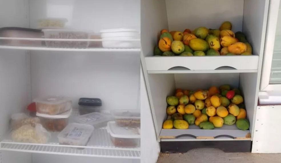 Parte da população também tem contribuído com outras marmitas, bolos, frutas e doces — Foto: Carlos Roberto Antico/Arquivo pessoal