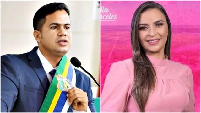 Chapa de Calvet Filho (PSC) e Cláudia Anceles (PT) foi cassada pela Câmara de Vereadores de Rosário — Foto: Arquivo pessoal