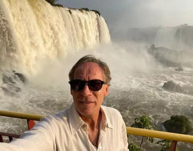"""Franco Baresi nunca tinha ido a Foz do Iguaçu e disse que teve """"experiência única"""" — Foto: Reprodução/Instagram"""