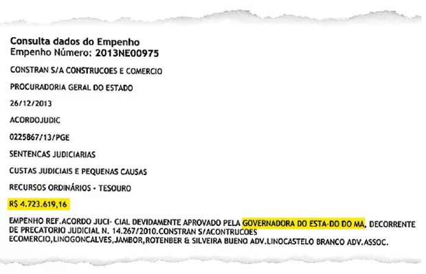 Documento do Governo do MA (Foto: reprodução)