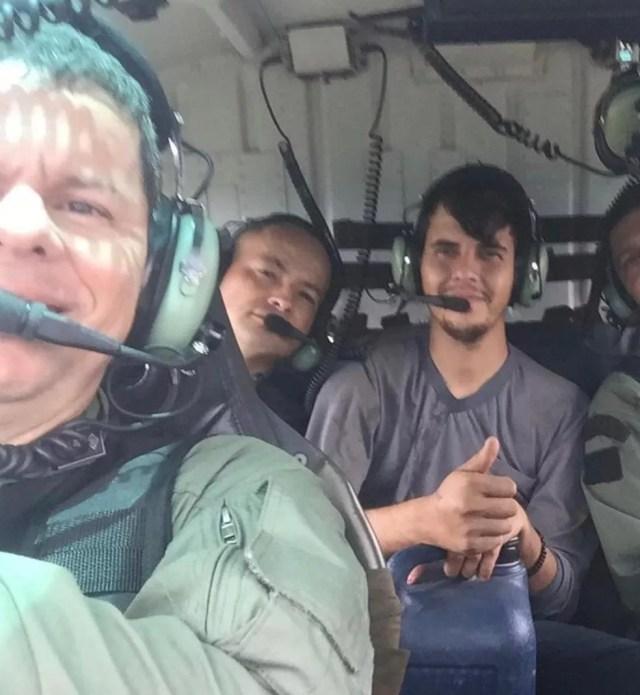 Aliffer Felipi foi resgatado após pouso forçado em Mato Grosso — Foto: Ciopaer/MT