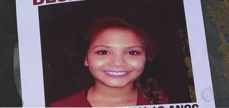 Menina Vitória Gabrielly desapareceu após sair de casa para andar de patins (Foto: Reprodução/TV TEM)