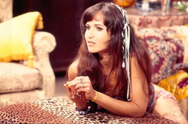 Atriz viveu a personagem Paraguaya na novela 'A Indomada', em 1997 (Foto: Acervo Globo)
