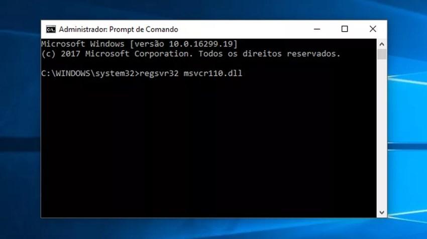 Registre a dll novamente no Windows (Foto: Reprodução/Paulo Alves)