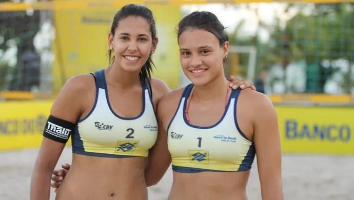 Duda e Tainá, de Sergipe, vencem a 4ª etapa no feminino (Foto: Divulgação / CBV)