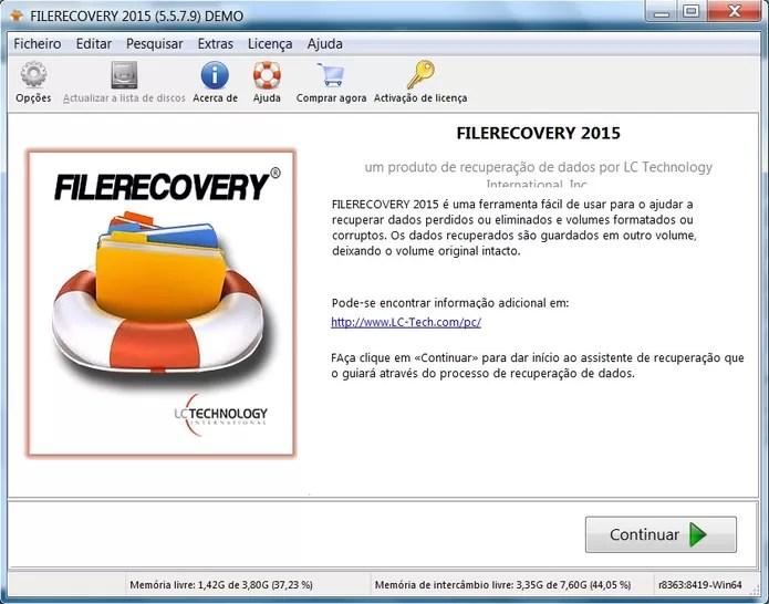 Baixe e instale FileRecovery (Foto: Reprodução/Juliana Pixinine)