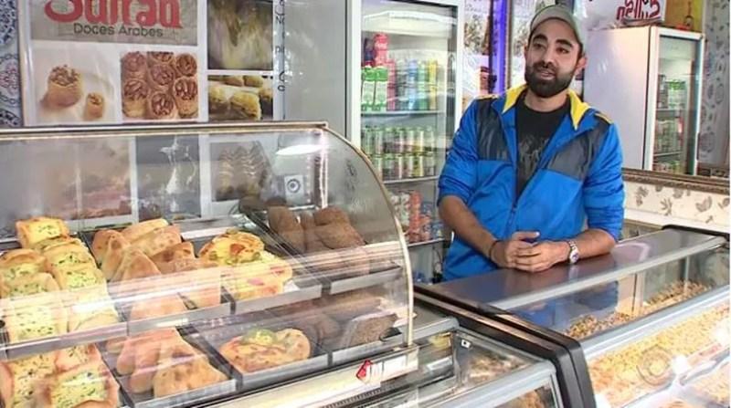 Hisham quer vender doces e salgados árabes para todo estado (Foto: Reprodução RBS TV)