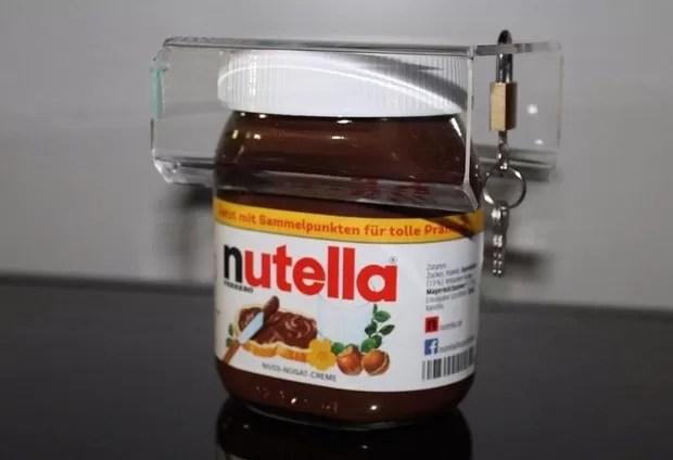 Alemão cria cadeado para trancar porte de Nutella (Foto: Reprodução/Ebay.de)