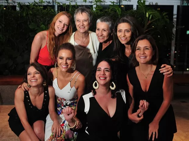 Atrizes de Felizes para Sempre posam durante coletiva de imprensa (Foto: Reinaldo Marques/Gshow)