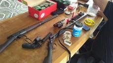 Armas apreendidas em Cacoal, RO — Foto: Polícia/Divulgação