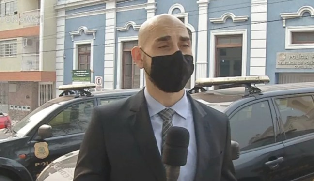 Delegado Alan Givigi da Polícia Federal — Foto: Reprodução/TV Morena