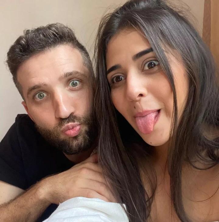 O casal ao morar junto em Juquiá, no interior de São Paulo.  — Foto: Acervo pessoal