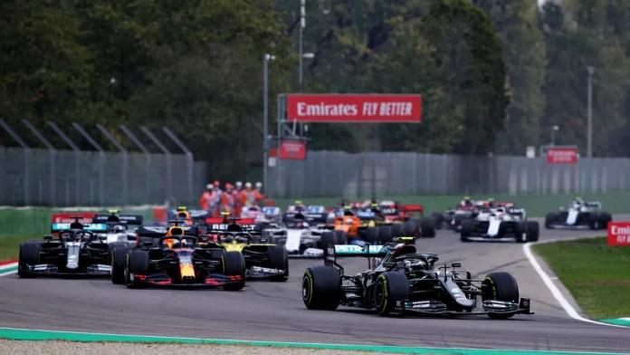 Largada do GP da Emilia-Romagna, em Imola — Foto: Getty Images