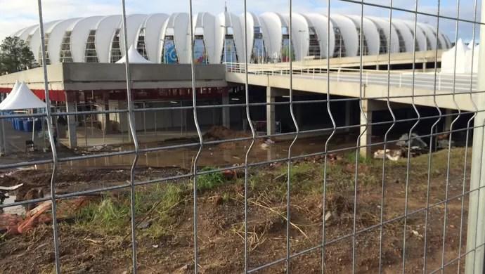 Beira-Rio pré-jogo (Foto: Luiza Carneiro/G1)