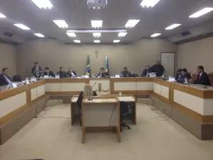 Segunda audiência que julga acusados de desviar dinheiro da Assembleia Legislativa do Amapá (Foto: Dyepeson Martins/G1)